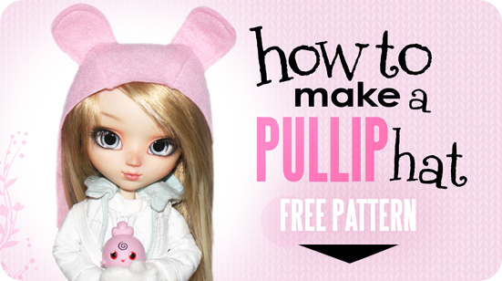 Download Free Doll Hat Pattern from Emma and Mr Polar Bear