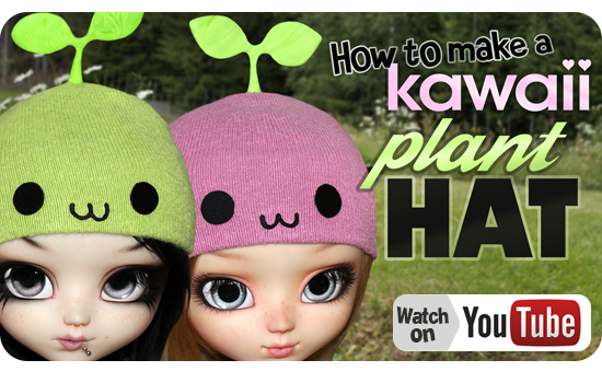 How to make a Kawaii Plat Hat for yor Doll YouTube Tutorial