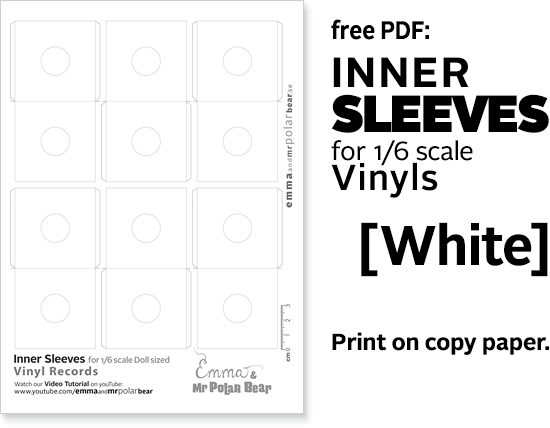 Download Free Vinyls inner Sleeves from Emma and Mr Polar Bear