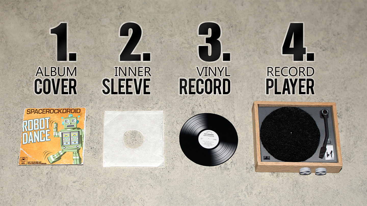How to make a miniature Record Player and Vinyls for your doll
