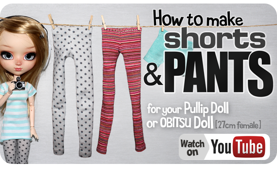 How to make Doll Pants and shorts Tutorial